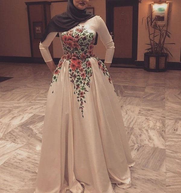لباس شب پوشیده مجلسی