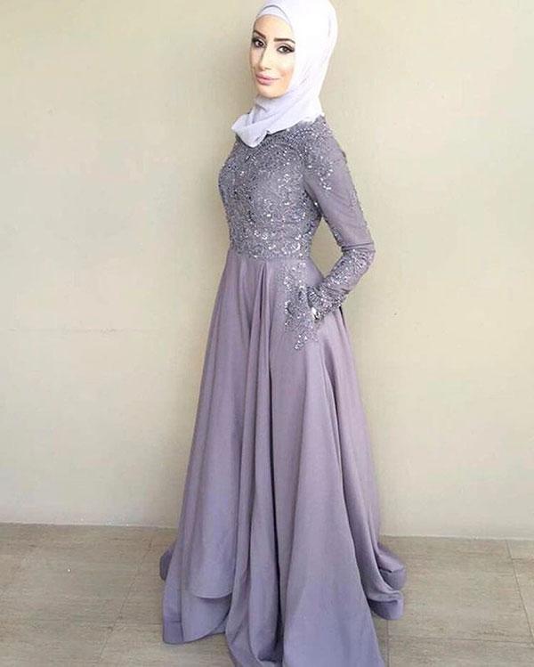مدل لباس زنانه بلند با حجاب