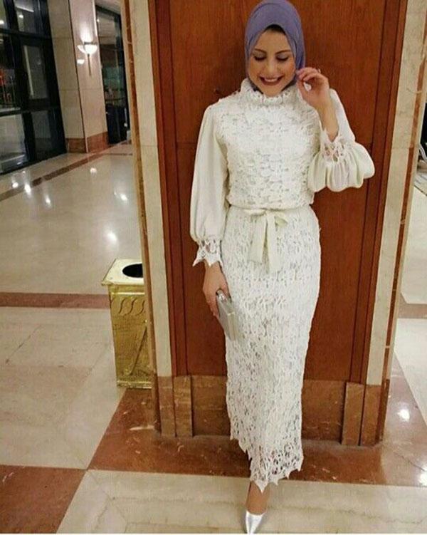 مدل لباس مهمانی زنانه با حجاب