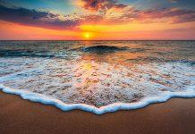 عکس غروب خورشید دریا