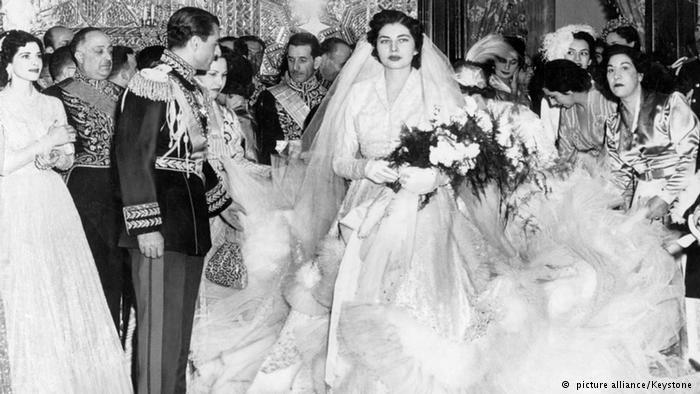 عکس عروسی ثریا اسفندیاری و محمدرضا پهلوی