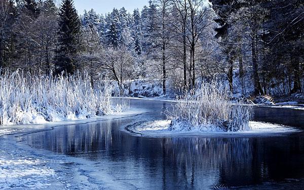 عکس طبیعت زمستانی برفی