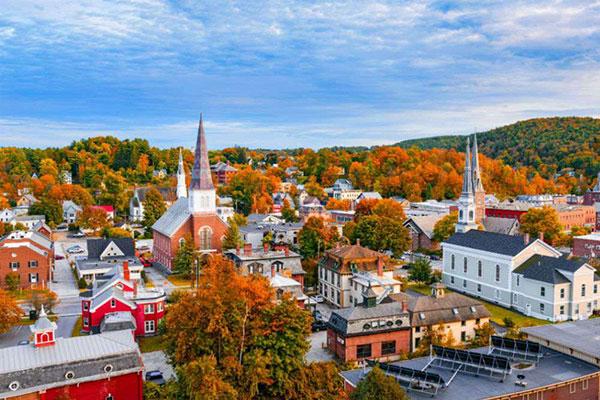 زیباترین شهر ها در پاییز