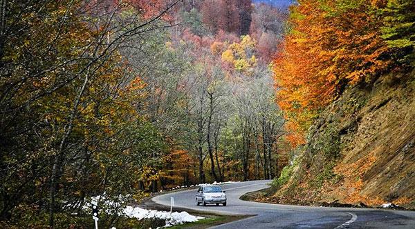 پاییز در جاده اسالم به خلخال