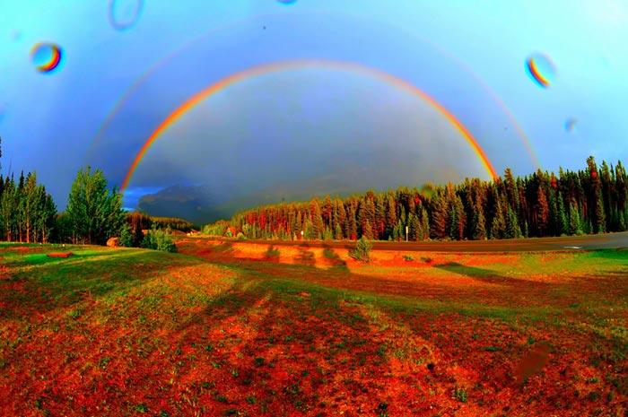 تصاویر زیبای رنگین کمان