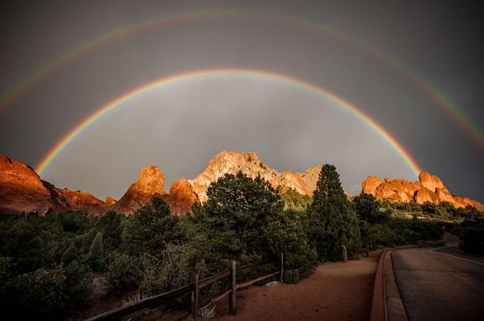 عکس های شگفت انگیز از رنگین کمان