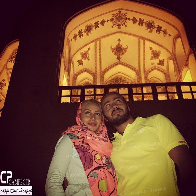 شادی احدی فر و همسرش