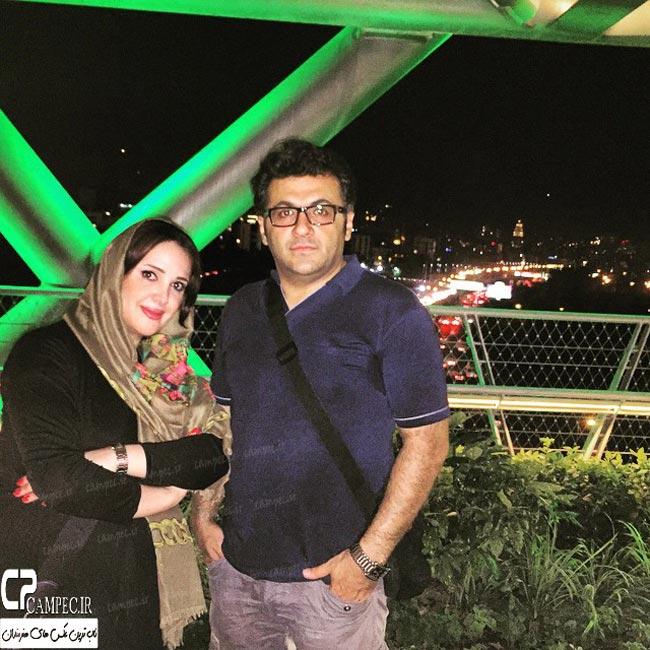 شهرام عبدلی و همسرش