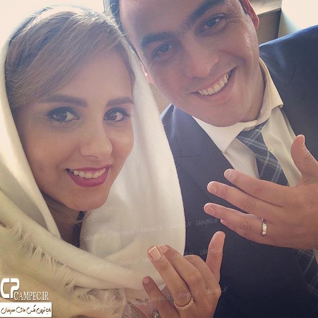 المیرا عبدی (دختر اکبر عبدی) و همسرش