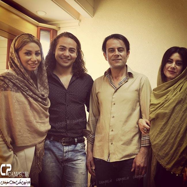 رحیم نوروزی و همسرش با شادی احدی فر و همسرش