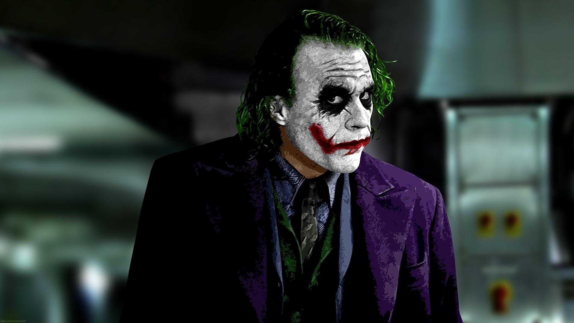 عکس جوکر در فیلم شوالیه تاریکی