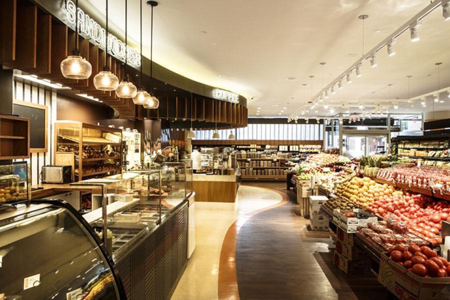 عکس طراحی دکوراسیون مغازه سوپرمارکت و میوه فروشی , چیدمان سوپر مارکت