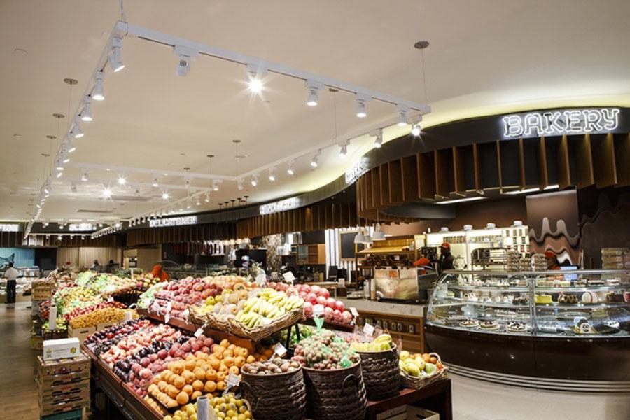 عکس طراحی دکوراسیون مغازه سوپرمارکت و میوه فروشی , دکوراسیون داخلی مغازه میوه فروشی
