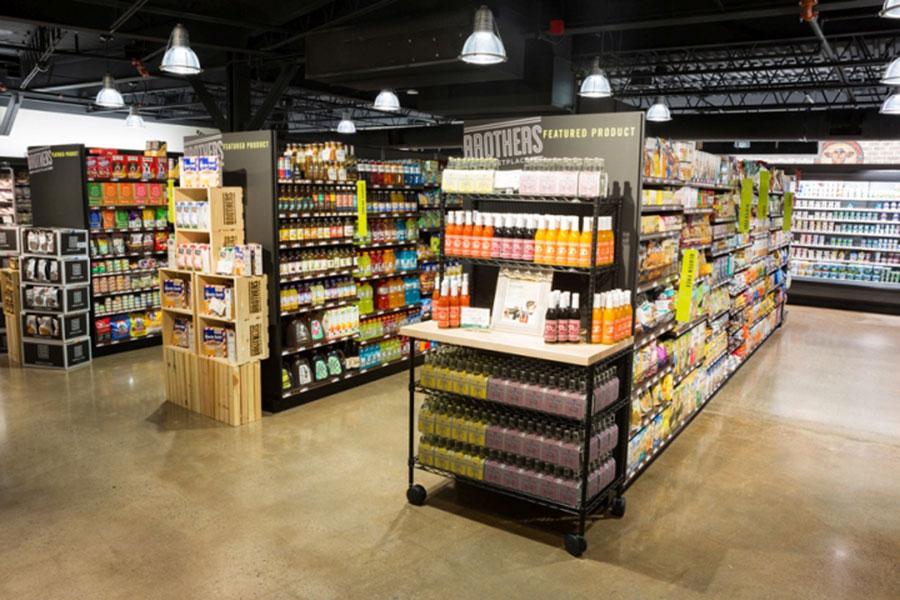 عکس طراحی دکوراسیون مغازه سوپرمارکت و میوه فروشی