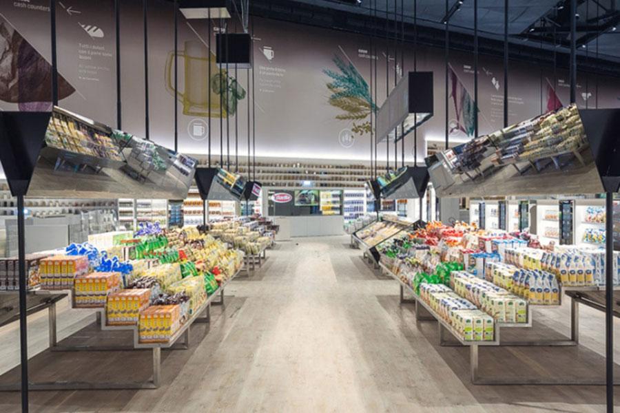 عکس طراحی دکوراسیون مغازه سوپرمارکت و میوه فروشی , چیدمان مغازه میوه فروشی