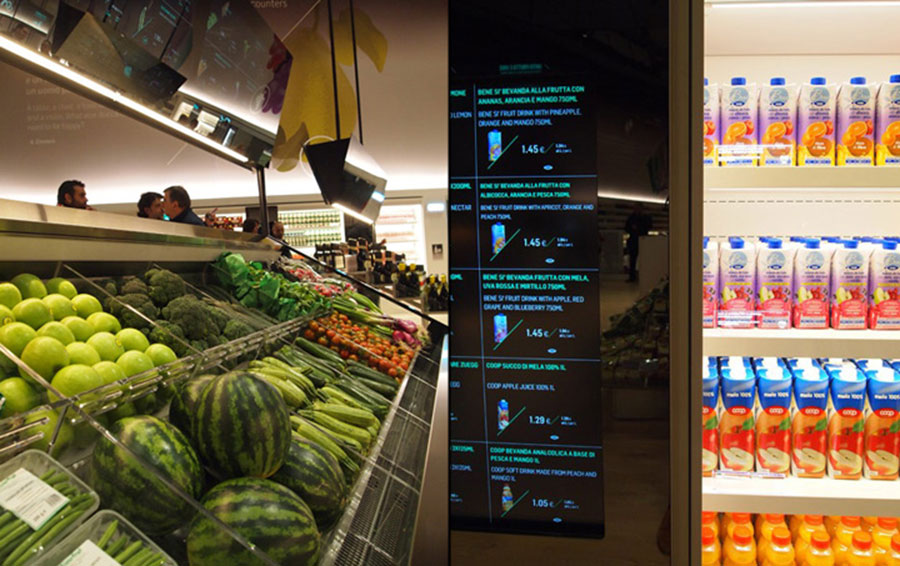 عکس طراحی دکوراسیون مغازه سوپرمارکت و میوه فروشی , چیدمان سوپرمارکت
