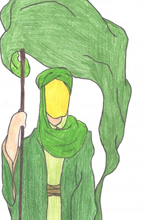 نقاشی کودکانه در مورد امامت امام زمان