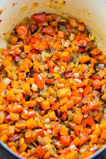 طرز تهیه و دستور پخت خوراک کدو حلوایی خوشمزه
