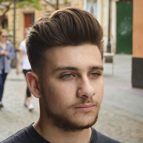 انواع مدل مو کوتاه مردانه برای صورت گرد