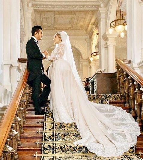 عکس عروسی رضا قوچان نژاد و سروین بیات