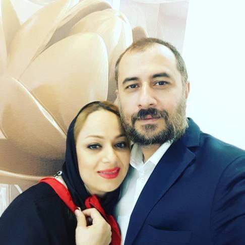 سیاوش مفیدی و همسرش شیوا سلیمی