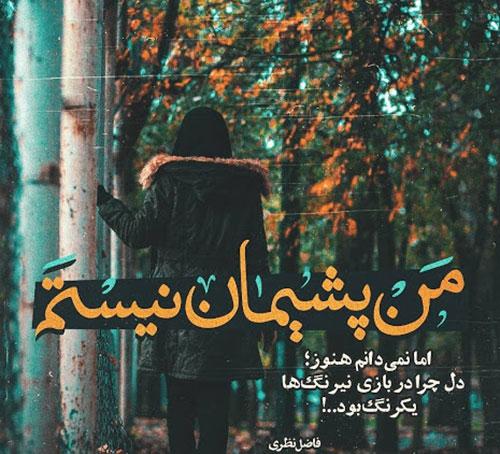 عکس نوشته زیبا از فاضل نظری