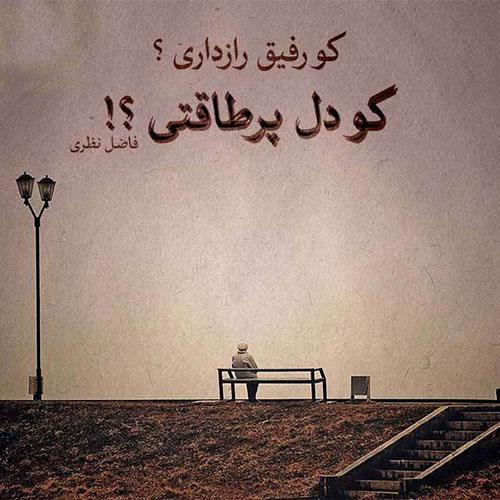 عکس نوشته اشعار فاضل نظری
