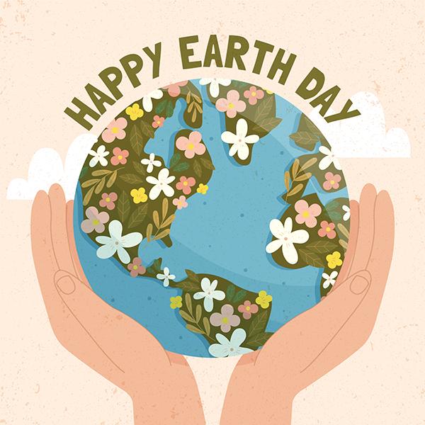 عکس نوشته انگلیسی روز زمین پاک