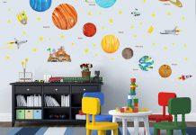 تزیین دیوار اتاق خواب کودک