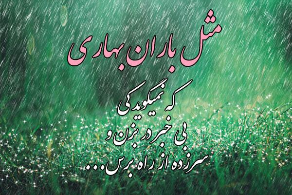 عکس نوشته مثل باران بهاری
