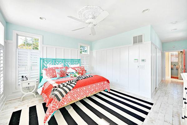 اتاق خواب آبی صورتی