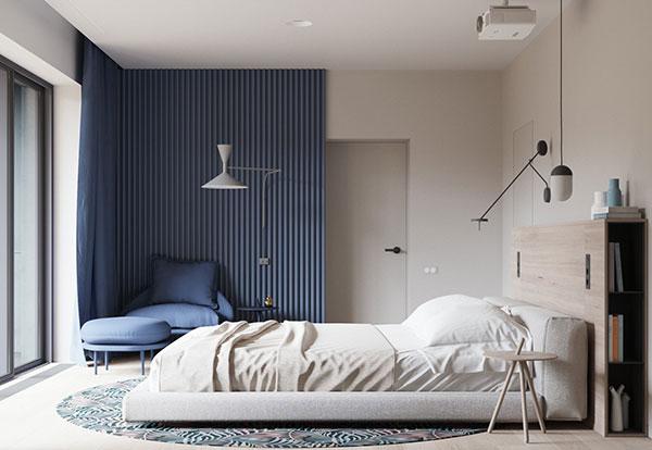 اتاق خواب آبی نفتی