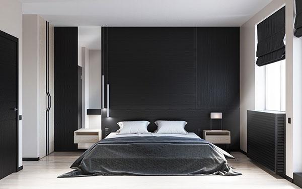 اتاق خواب سفید مشکی