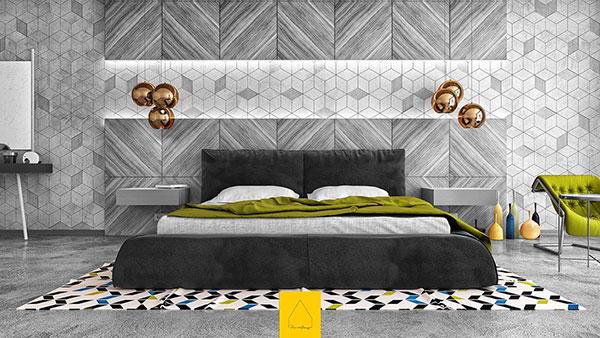 اتاق خواب طوسی مشکی