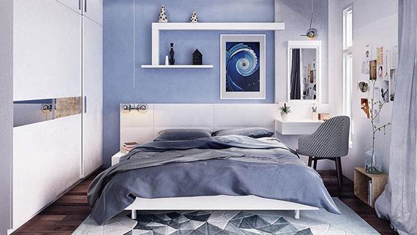 دکوراسیون اتاق خواب به رنگ آبی