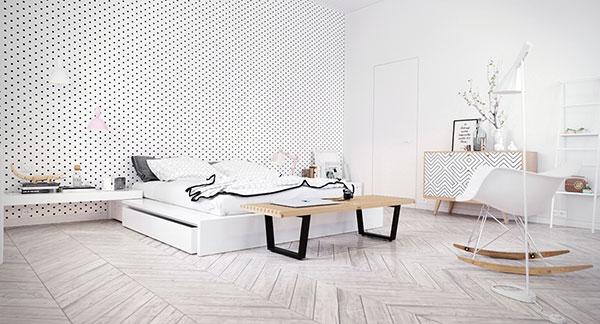 دکوراسیون اتاق خواب با رنگ سفید
