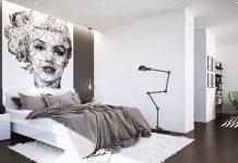دکوراسیون اتاق خواب سیاه و سفید