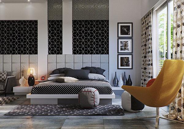 دکوراسیون اتاق خواب به رنگ خاکستری