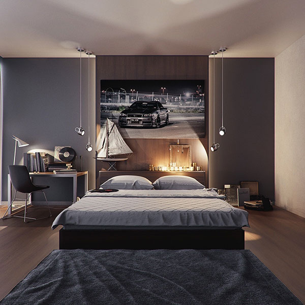 دکوراسیون اتاق خواب بدون پنجره