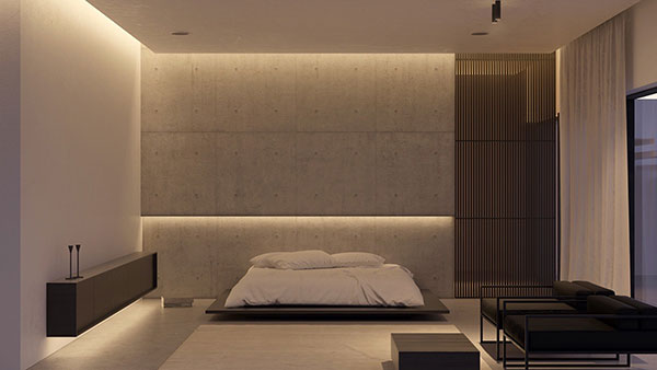 دکوراسیون اتاق خواب به رنگ طوسی