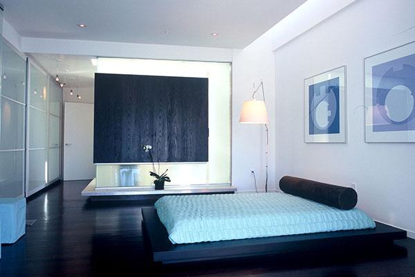 دکوراسیون اتاق خواب اتاق خواب سفید سورمه ای
