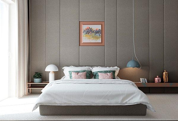 اتاق خواب طوسی سفید سبز