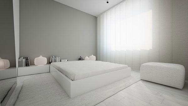 دکوراسیون اتاق خواب به سبک مینیمال