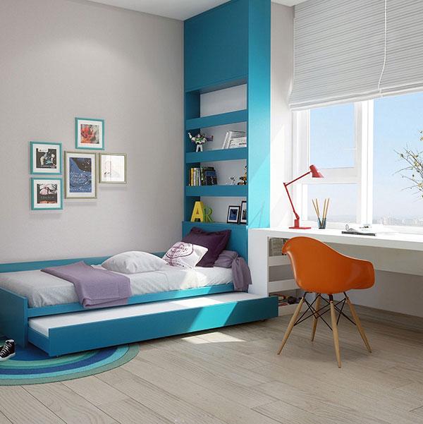 دکوراسیون اتاق خواب پسرانه به رنگ آبی