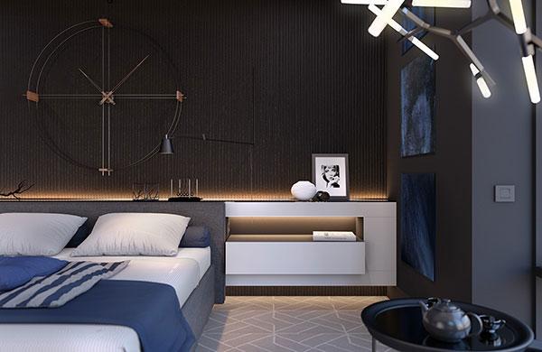 دکوراسیون اتاق خواب پسرانه سیاه سفید