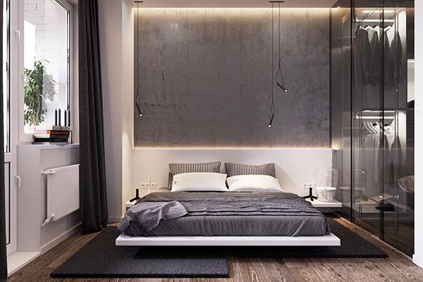 رنگ خاکستری برای اتاق خواب