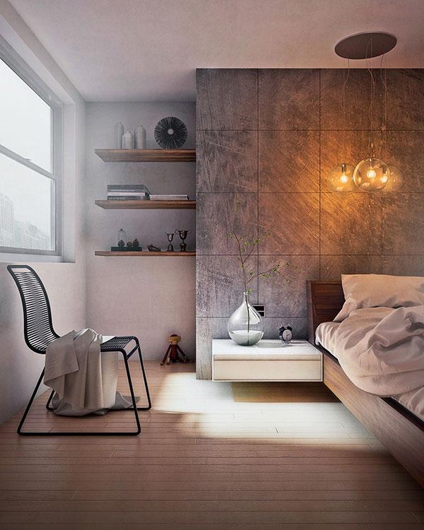 رنگ دیوار اتاق خواب طوسی