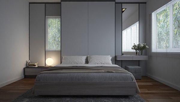 رنگ طوسی برای دکوراسیون اتاق خواب