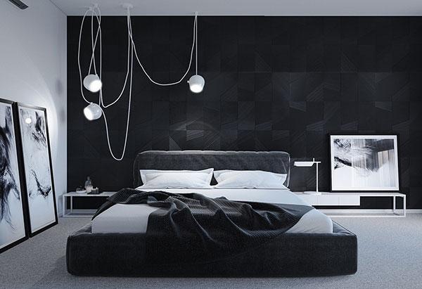تخت خواب سیاه و سفید
