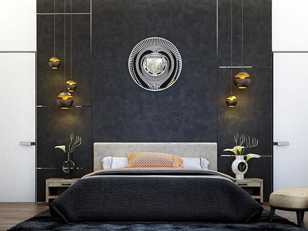کاغذ دیواری اتاق خواب سیاه سفید